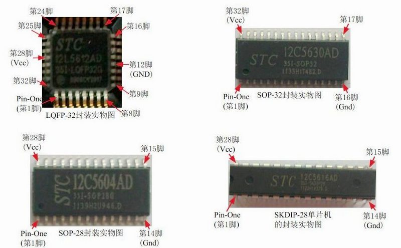 宏晶科技stc单片机_宏晶STC单片机常见封装及PCB库(摘自宏晶科技:STCMCU.COM)